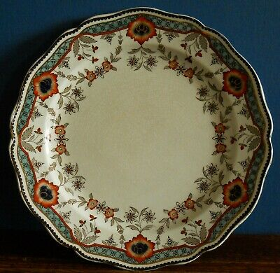 "An antique Royal Doulton hand coloured 10"" Rhona plate Arts & Crafts Style"