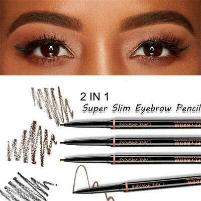 Tint Microblading Waterproof Eyebrow Pencil Ultra Slim Enhancer Double Ended