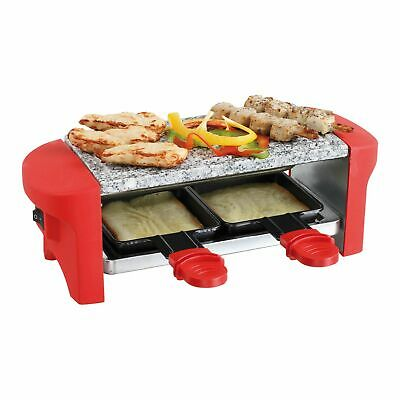 Livoo DOC156R 2IN1 Raclette Barbecue Table Grill Électrique Chaud Pierre