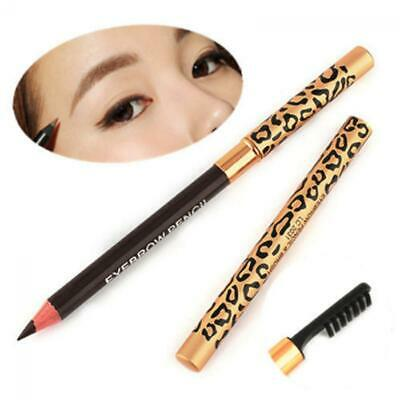 Waterproof Women Long-Lasting Leopard Eyeliner Eyebrow Pencil Brush Makeup