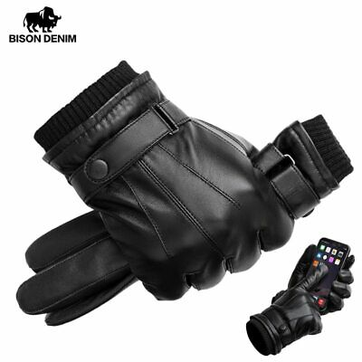 Men Women Winter Gloves Touch Screen Snow Windproof Waterproof Leather Thick