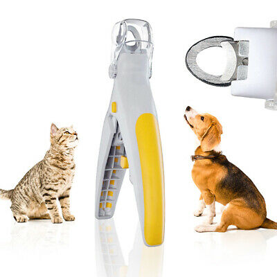 Pet Nail Care Clipper Trimmer Grooming Tool For Pet Cat Dog With LED Light Healt