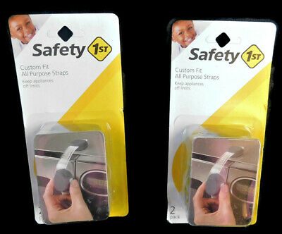 NIP Lot of 2 Safety First Custom Fit All Purpose Straps 2-pack Total of 4