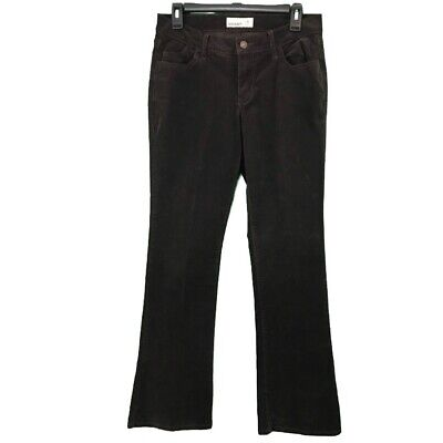Old Navy Womens Corduroy Pants Sz 4 Stretch Dark Brown Bootcut Midrise