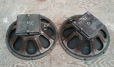 """Pair CTS 137 15"""" woofers great sound tested"""