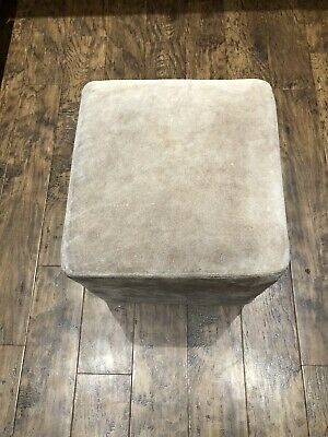 Leather / Shade (Faux) Foot Stool / Cube Footstool Box / Foot Support Cube