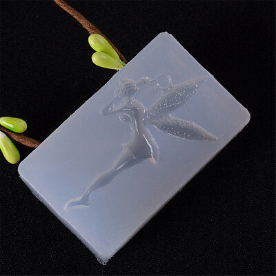 Lovely Fairy Shape Mold DIY Decoration Mobile Phone Tools Jewelry Silicone  RA