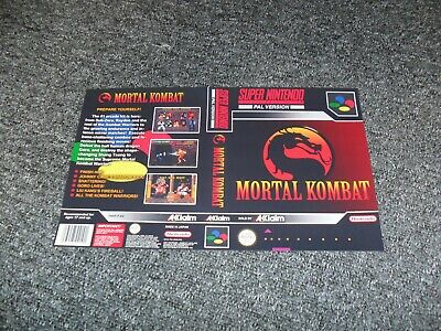 REPLACEMENT NINTENDO SNES UNIVERSAL GAME CASE BOX cover only - MORTAL KOMBAT