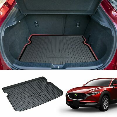 SMARTLINER All Weather Custom Fit Cargo Liner Trunk Floor Mat Black for 2020 Mazda CX-30 SD0503 Model