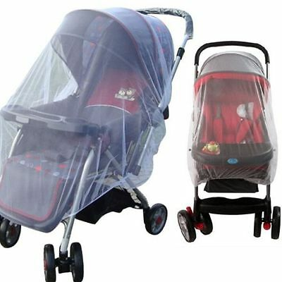 Whtie Stroller Pushchair Mosquito Insect Net Mesh Buggy Cover for Baby Infant #1