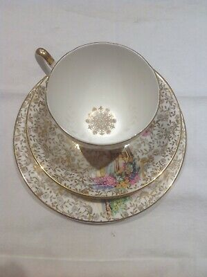 Vintage Imperial Bone China 22KT Tea  Cup and side plate