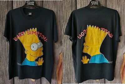 Vintage 1990 Bart Simpson 2 Sided Print 50/50 Screen Stars T Shirt Xl Not Air