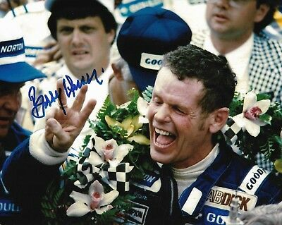 Bobby Unser Signed 8X10 Photo Indy 500 Indianapolis Winner 1968 1975 1981 Al