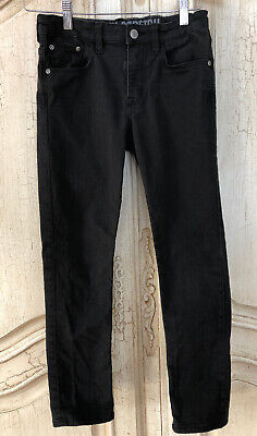 H&M Boys Black Skinny Stretch Jeans With Adjustable Waist Size 10-11 Youth