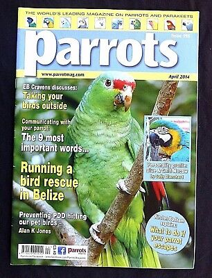 Parrots. April 2014, Iss 195, What To Do If Your Parrot Escapes. Preventing PDD.