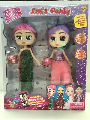 Boxy Girls  ~ Let's Party ~ Gracie & Jasmine Doll 2-Pack W/ Surprises ! JAY PLAY