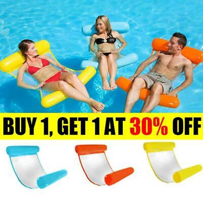 Inflatable Floating Water Hammock Float Pool Lounge Bed Swimming Chair AT