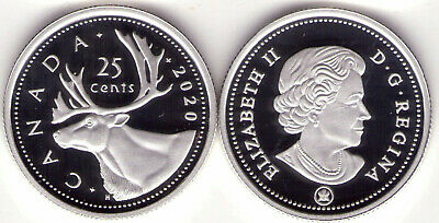 2020 Canada Pure Silver Proof 25 cent Caribou, Low Mintage of 15,000
