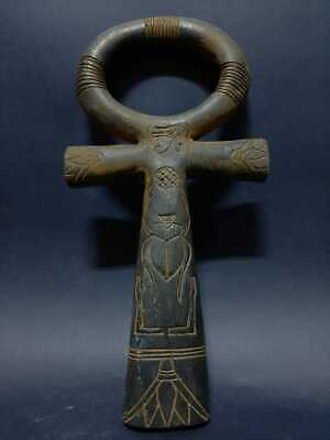 Rare Ancient Egyptian Antiques Art Ankh Key Of Life Egypt Stone 3150-2613 BC