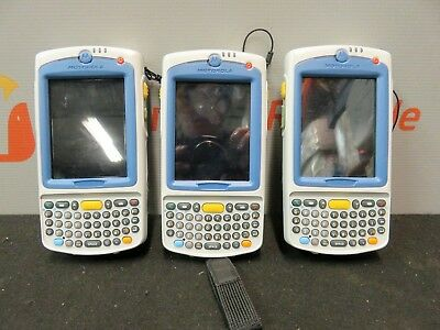 Motorola Symbol MC75A0 Mobile Handheld Barcode Scanners Lot of 3