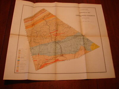 Geological Map of Lebanon County, Pa by Richard H. Sanders 1892