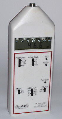 Quest Electronics Model 2700 Impulse Sound Level Meter *Used, Power-On Tested*