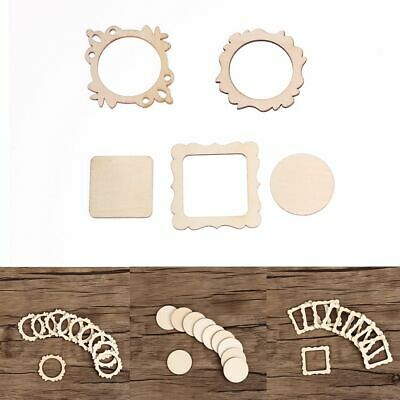 Unfinished Wall Tree Scrapbooking Wooden Ornaments Frame Carved Embellishment