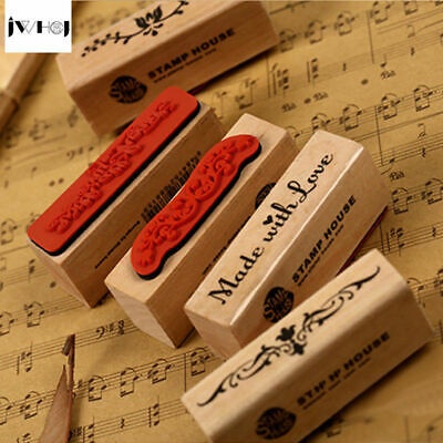 Made With Love Vintage Wooden Rubber Stamp Arts & Crafts Handmade Signature Mark