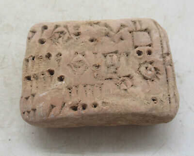 Circa 2000Bce Ancient Near Eastern Clay Tablet With Early Form Of Writing