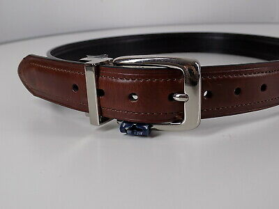 "NWOT Chaps Youth Leather Belt Reversible Brown/Black Sz L (30""-32"")Silver Buckle"