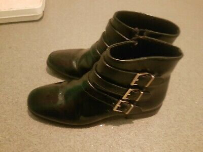 Kids Girls Zara black Boots Size 2 Excellent Used Condition