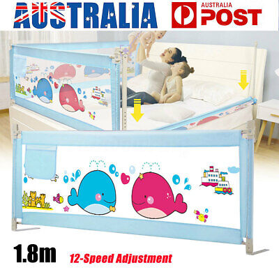 1.8M Safety Cot/Bed Rail Guard Bedguard Protection For Baby Infant Toddler Kids