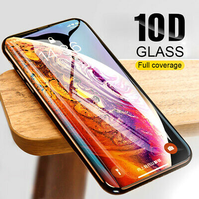 For Apple iPhone 11 Pro XS Max XR /X Full Curved Tempered Glass Screen Protector