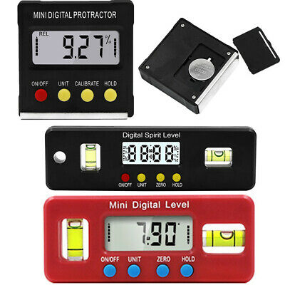 LCD Digital Inclinometer Level Box Protractor Angle Finder Bevel Gauge Magnetic