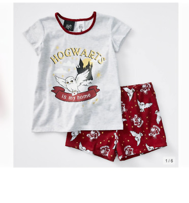 Boys Girls size 3 HARRY POTTER Hogwarts summer  pyjamas  pjs  NEW  unisex