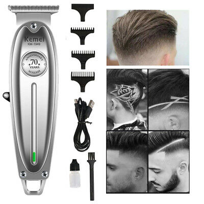 Kemei Metal Professional Hair Clipper Electric Cordless Hair Trimmer Grooming
