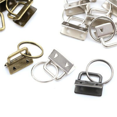 """100 Large Auto-Close CLASP CLIP 32x17mm Purse FOB Key Ring Lanyards~ 1-1//4/"""" Long"""