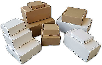 White Or Brown Shipping Cardboard Boxes Postal Mailing Gift Packet Small Parcel