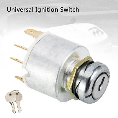 12V Universal Ignition Switch & 2 Keys For Car Lawnmower Boat Classic NEW