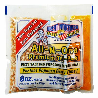 Great Northern Popcorn Premium 8 Ounce Popcorn Portion Packs, Case Of 40