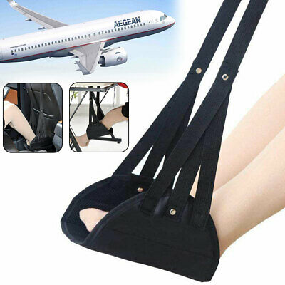 Footrest Hammock Foot Comfy Hanger Travel Airplane Made with Premium Memory-Foam