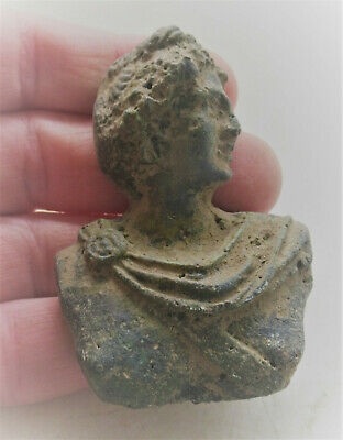 Beautiful Ancient Roman Bronze Bust Of Diana Circa 200-300Ad Very Rare