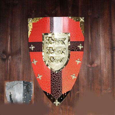 D30 Europe Retro Medieval Shield Antique Knight Armour Wall Home Decor Full Size