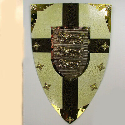 D36 Europe Retro Medieval Shield Antique Knight Armour Wall Home Decor Full Size