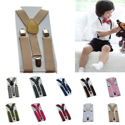 Nylon Suspenders Girl Braces 11 Colors 1-10YRS Strong Clip On Trousers