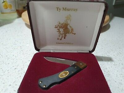 Vintage USA made Schrade *Ty Murray* Collectable Knife