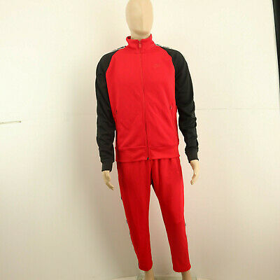 NIKE Mens Tracksuit Top And Bottom Red Size M