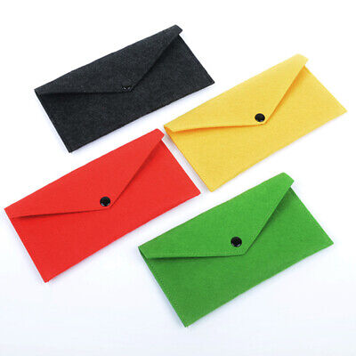 Simple Portable Felt Fabric Coin Purse Long Wallet Storage Bag Fold Over Purses