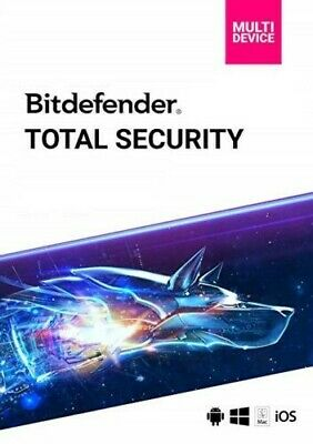 BitDefender TOTAL Security Multi-device 2020, 5 dispozitivos / 1año por 10 euros