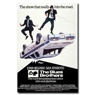 R116 THE BLUES BROTHERS Movie-Print Art Silk Poster